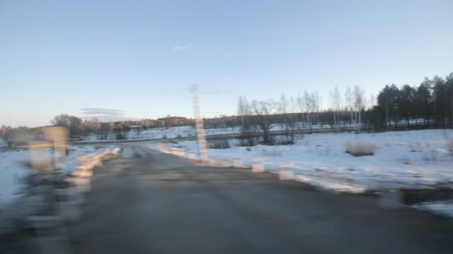 View from the window of a moving train. - vídeo