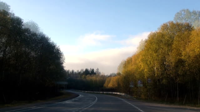 View from vehicle driving on country road View from vehicle first person driving on country road. intercity stock videos & royalty-free footage