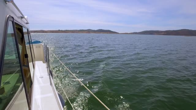 View From Yacht on Water Landscape video