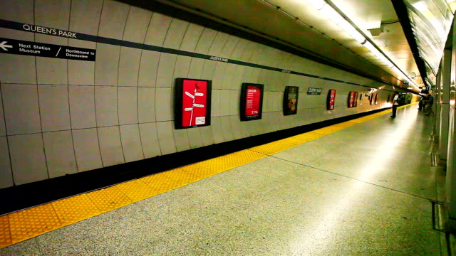 View in the Toronto subway A View in the Toronto subway subway platform stock videos & royalty-free footage