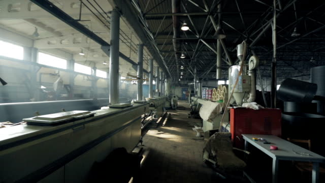 View Industrial building with pipes, machine tools video