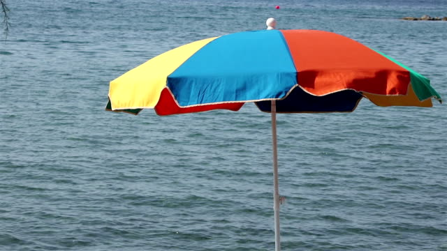 View of a beach umbrella