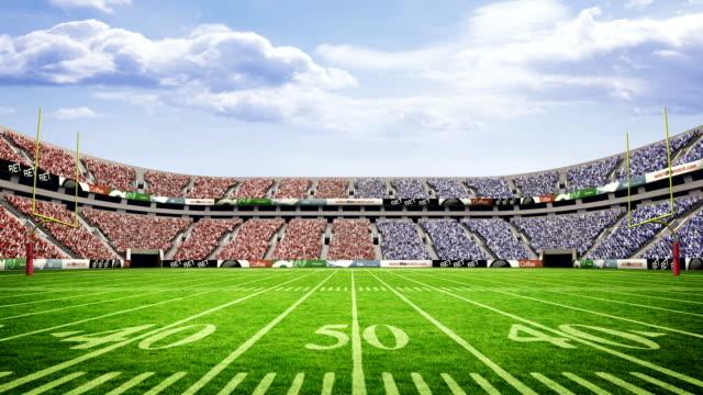 View of an american football stadium video