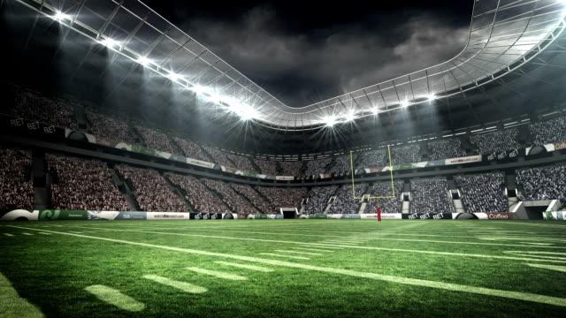 vídeos y material grabado en eventos de stock de vista de un estadio de fútbol americano - fútbol americano
