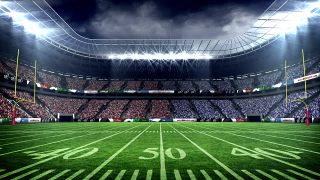 blick von einem american-football-stadion - stadion stock-videos und b-roll-filmmaterial