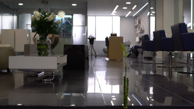 View of an empty beauty salon - no people View of an empty beauty salon - no people beauty salon stock videos & royalty-free footage