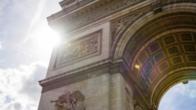 View of Arc de Triomphe, one of the most famous monuments in Paris video