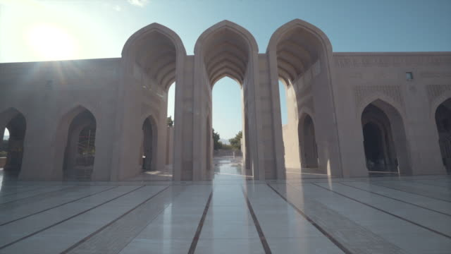 view of archways in oman - oman video stock e b–roll