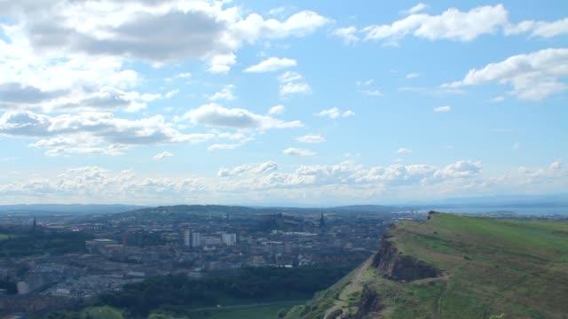 View of Arthur's Seat and Edinburgh video