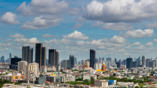 View of Bangkok City Thailand 4k video