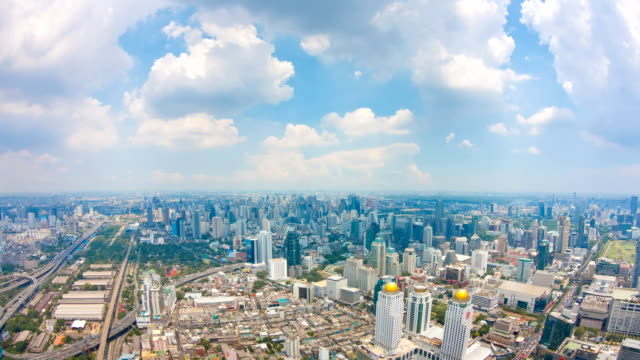 View of Bangkok City with clouds video
