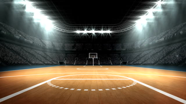 stockvideo's en b-roll-footage met weergave van basketbal stadion - basketbal teamsport