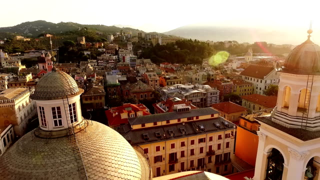 view of beautiful church and cityscape - italian architecture stock videos & royalty-free footage