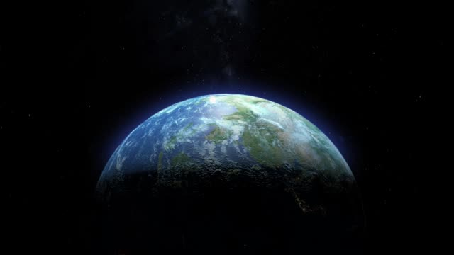 View of Blue Marble Earth from Orbit video