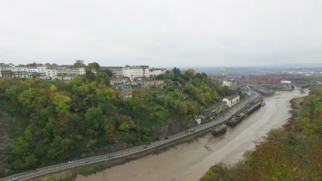 View of Bristol and the river Avon video