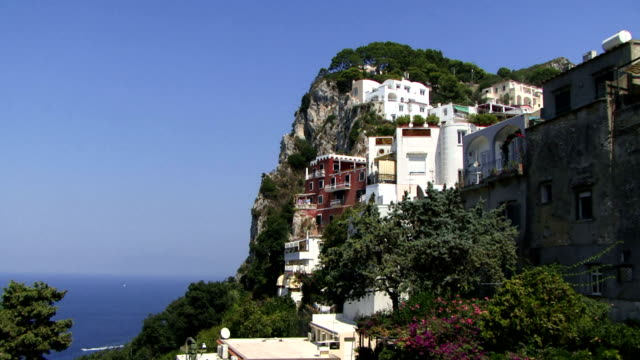 View of buildings on Capri video