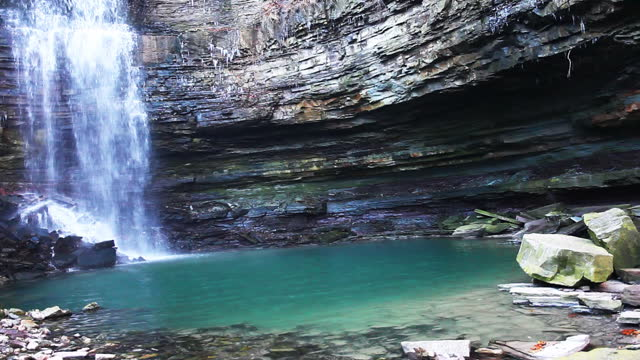 View of Chedoke Falls in Ontario, Canada video