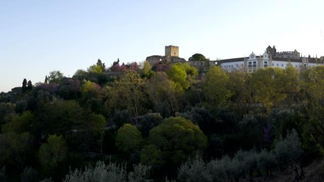 view of convento de cristo christ convent in tomar, portugal - jesus christ filmów i materiałów b-roll