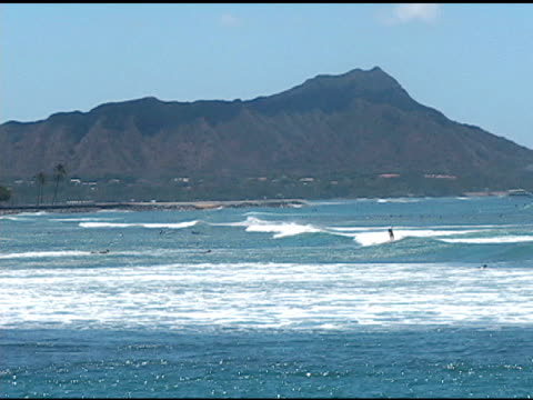 View of Diamond Head Diamond Head in the distance.  4:3 NTSC 720 X 480i.  Natural background audio.  [url=http://www.istockphoto.com/file_search.php?action=file&lightboxID=2112888][IMG]http://i233.photobucket.com/albums/ee292/dawngood/istock/myhawaii.jpg[/IMG][/url]  [url=http://www.istockphoto.com/file_search.php?action=file&lightboxID=2493856][IMG]http://i233.photobucket.com/albums/ee292/dawngood/istock/beaches6.jpg[/IMG][/url]  waikiki stock videos & royalty-free footage