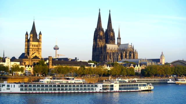 View of downtown Cologne city skyline