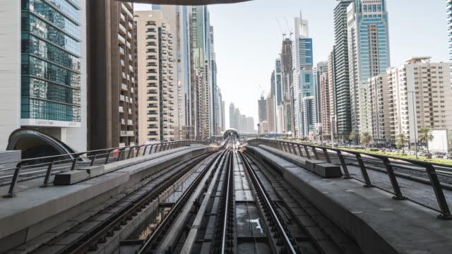 T/L POV View of Dubai Metro / Dubai, UAE