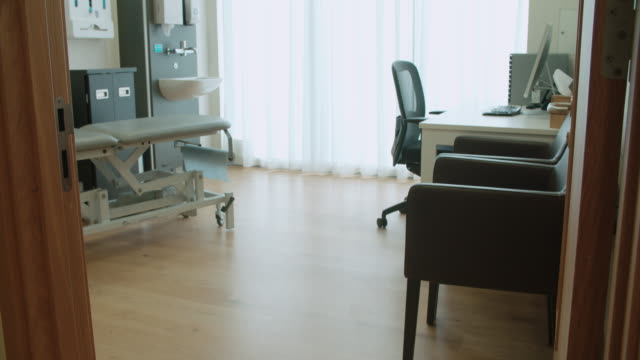 View Of Empty Doctor's Surgery video