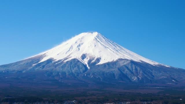 churetio パゴダ周辺の富士山の眺望濃淡の動き - 富士山点の映像素材/bロール