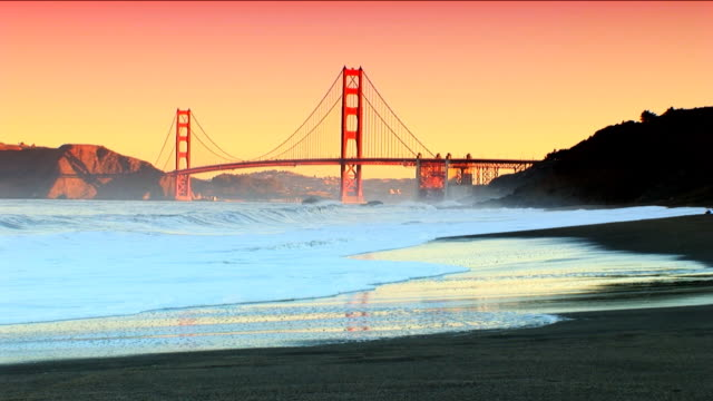 View of Golden Gate Bridge video