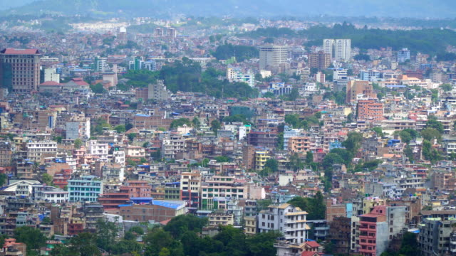 View of Kathmandu from the hill video