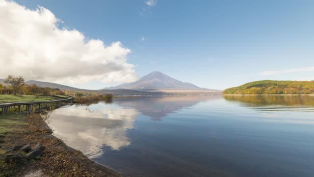View of Lake Yamanakako and mt.Fuji video