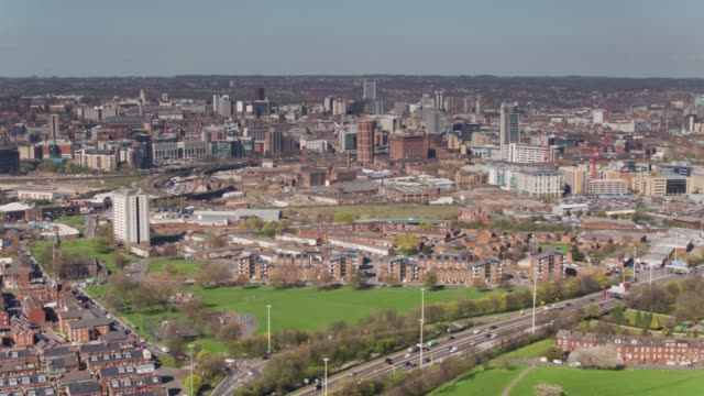 View of Leeds City Centre and Holbeck from South video