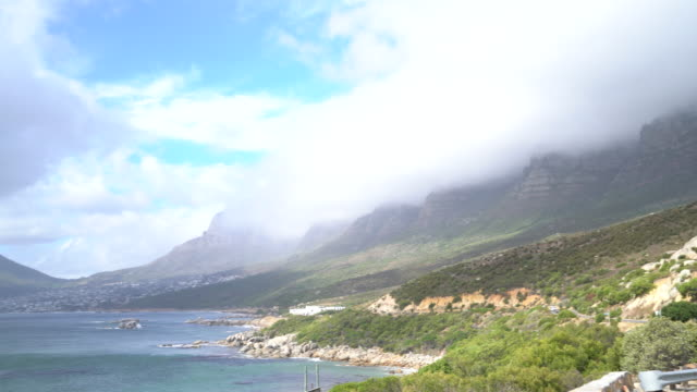 View of Lion's head and coastline, Cape Town View of Lion's head and coastline, Cape Town cape peninsula stock videos & royalty-free footage