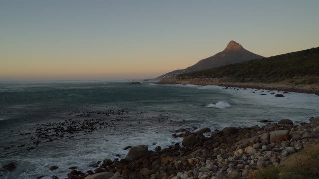 View of Lion's head and coastline, Cape Town View of Lion's head and coastline, Cape Town table mountain national park stock videos & royalty-free footage