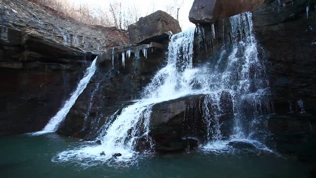 View of Lower Chedoke Falls in Ontario, Canada video
