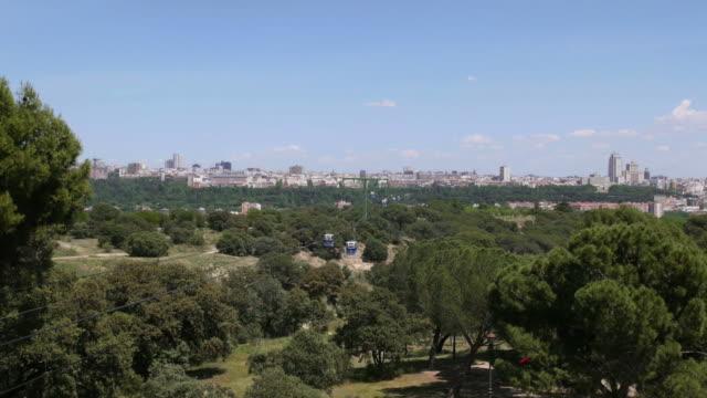 View of Madrid, Spain, teleferico, city, buildings video