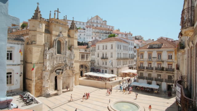View Of Monastery of Santa Cruz in Coimbra Portugal