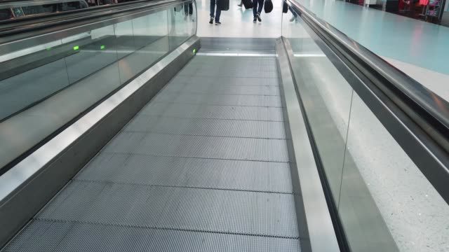 View of Moving Sidewalk in Jacksonville Airport video