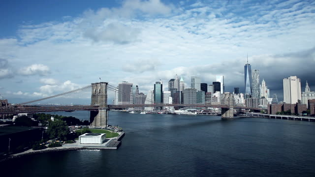 View of New York Downtown skyline video