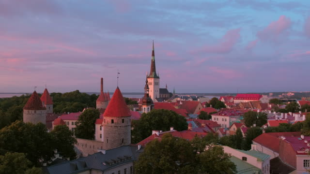 View of Old Town Tallinn from Toompea Hill video