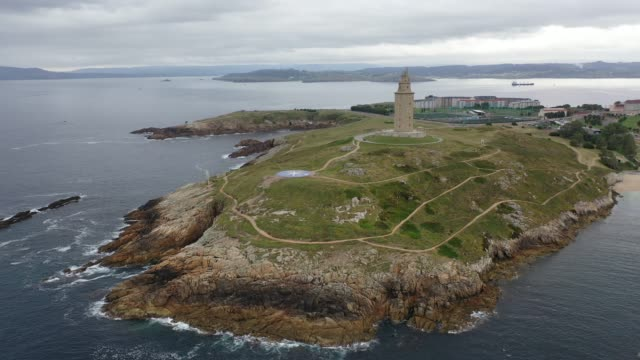 view of oldest Roman lighthouse in use today, La Coruna,