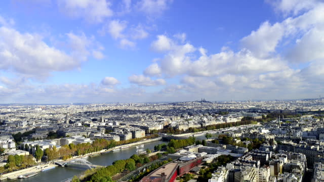 HD: View of Paris from Eiffel Tower video