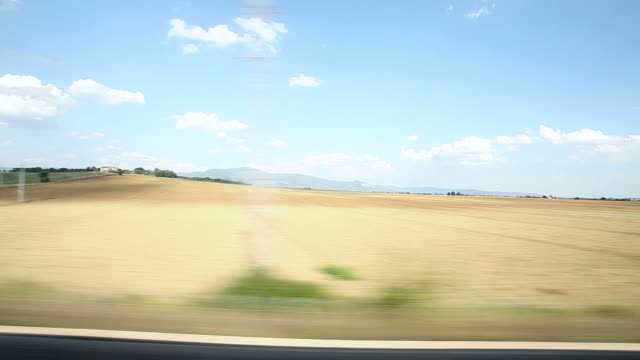 view of passing landscape - train stock videos and b-roll footage