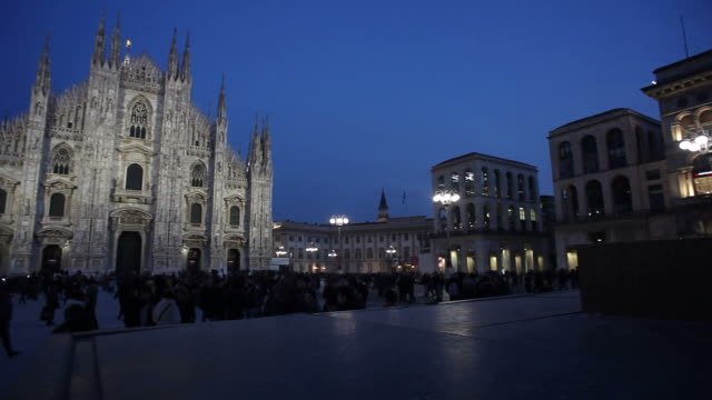 View of Piazza del Duomo at sunset