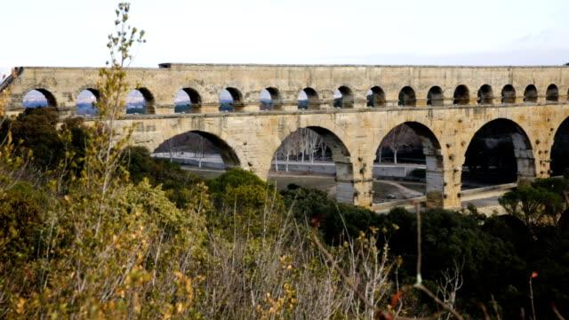 View of Pont du Gard, video