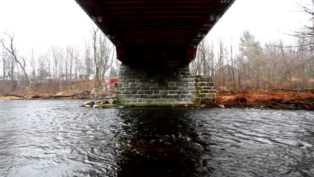 View of Powercourt Covered Bridge in Quebec, Canada