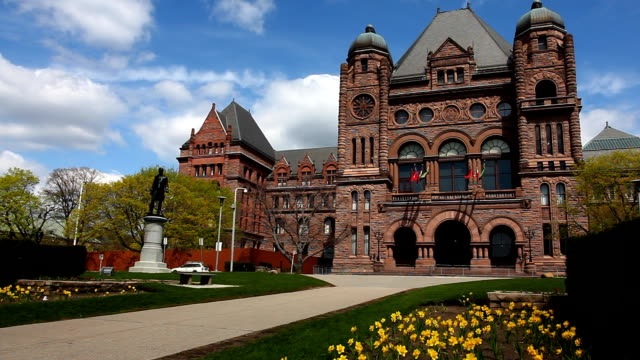 View of Queens Park in Toronto on a sunny day video