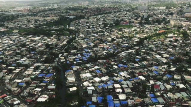 View of San Juan, Puerto Rico from an airplane after Hurricane Maria video