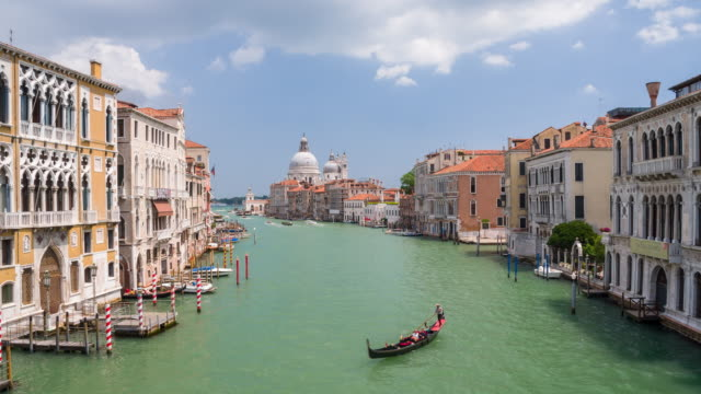 View of Santa Maria della Salute in Venice, Italy video