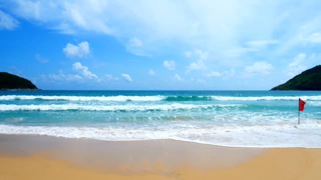 Vue des paysages marins. Point de vue de Nai Harn Beach à Phuket, Thaïlande sur 16 juin 2018 - Vidéo