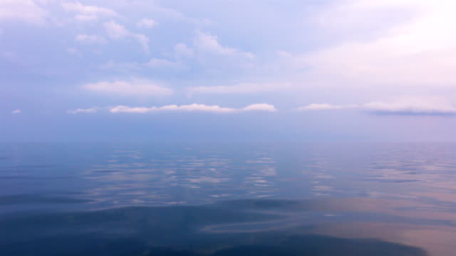 View of sky with cloud and calm sea video
